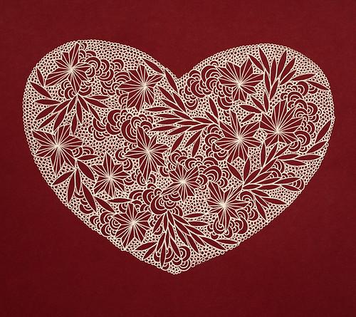 Gel pen heart-2