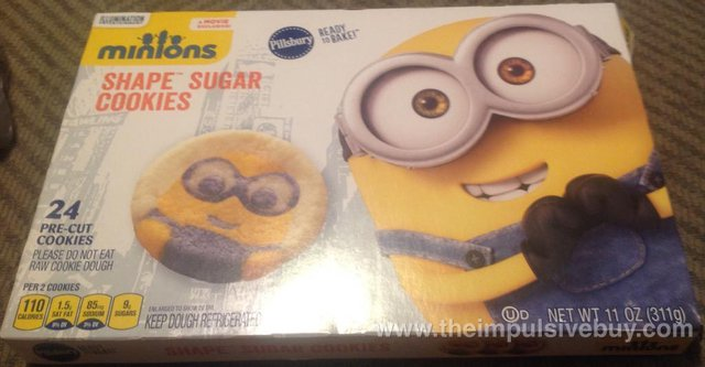 Pillsbury Minions Shape Sugar Cookies