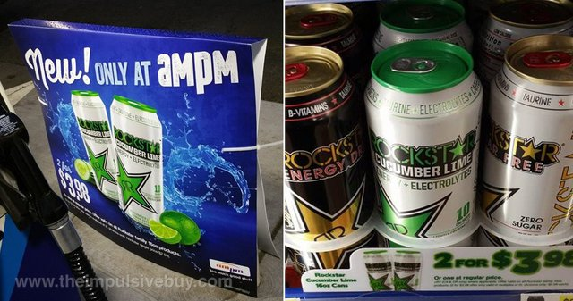 Rockstar Cucumber Lime Energy Drink (ampm Exclusive)