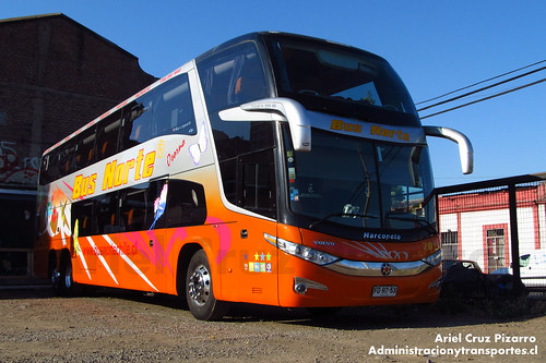 Bus Norte - Santiago - Marcopolo Paradiso 1800 DD / Volvo (FDRT53)