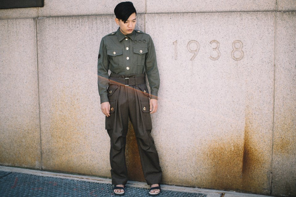 Military uniform inspired collection by Marc Jacobs