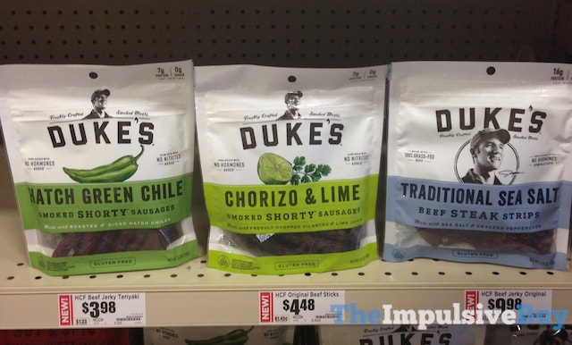 Duke's Smoked Shorty Sausages (Hatch Green Chile, Chorizo & Lime, and Traditional Sea Salt)