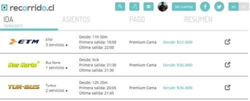 Cama Premium Pto Montt - Recorrido.cl