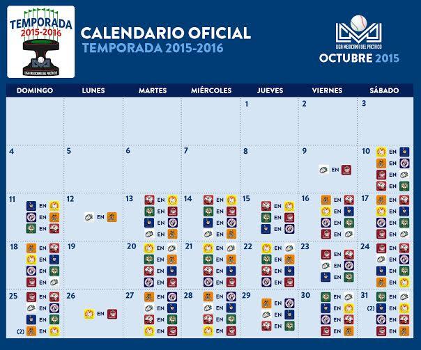 "... for ""Calendario De La Liga Mexicana 2015 2016"" – Calendar 2015"