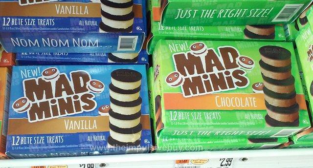 Mad Minis Ice Cream Cookie Sandwiches (Vanilla and Chocolate)