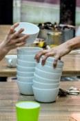 Staff Grab Soup Bowls