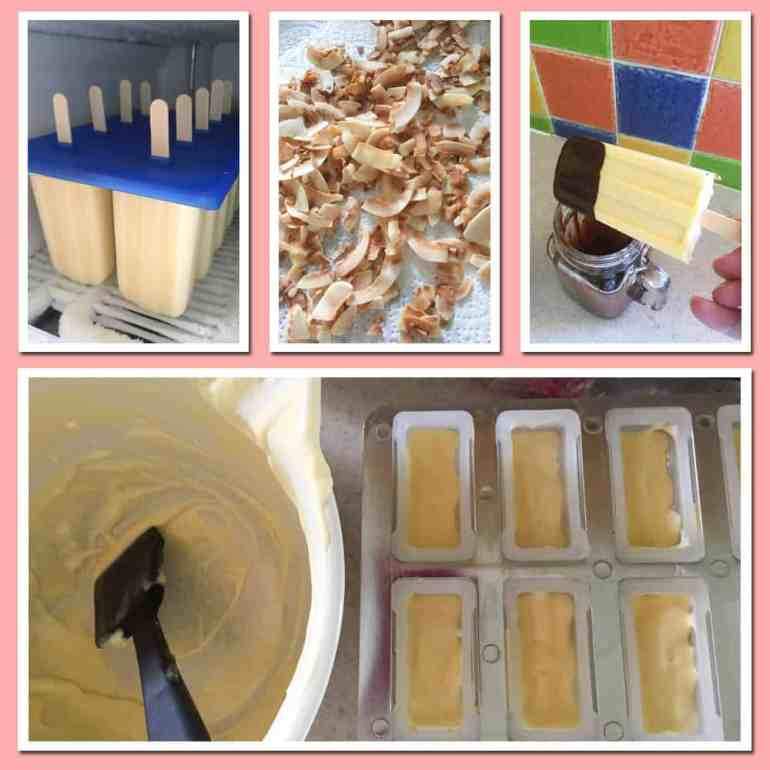 Making Mango Mousse Ice Lollies