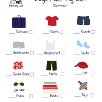 Kid's Checklist For Packing Printables ~ Let The Kids Pack Their Own Suitcase