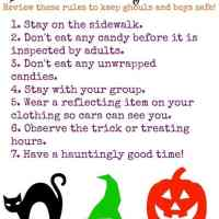 Free Halloween Safety Tips Printable