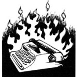 Burning Typewriter
