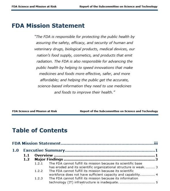 FDA Mission Statement copy