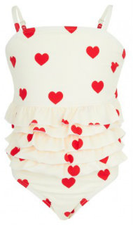 Mini Rodini Heart Ruffle Swimsuit