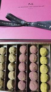 La Maison du Chocolat, coffret de truffes couleurs - 3 parfums