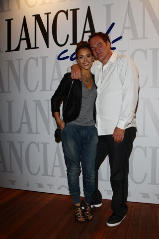 "Jessica Alba and Quentin Tarantino attends the Lancia Cafe Hosts ""Black Swan"" After Party Premiere FDM, fashiondailymag.com, www.fashiondailymag.com by Brigitte Segura"