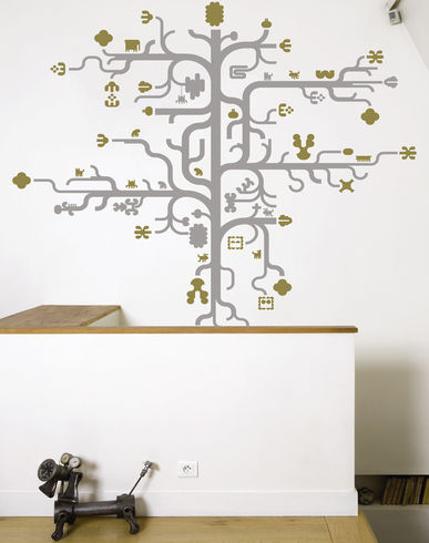 DOMESTIC Tree gold Design by Antoine & Manuel Wall stickers at YOOX on fashion daily mag
