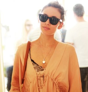 Rumi Neely at philip lim x kanon for coachella on FashionDailyMag