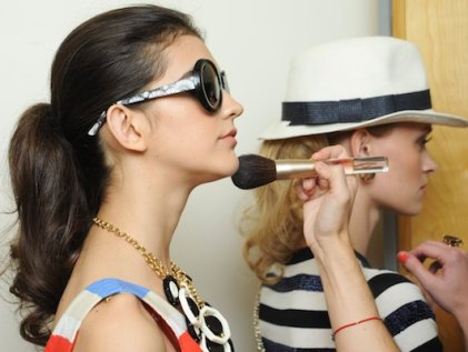 JOUER beauty backstage 2 at KATE SPADE SS12 on FashionDailyMag
