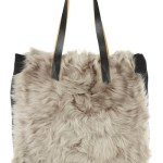 MARNI shearling and wool tote at NAP on Fdm Fuzzy finds