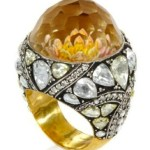 sevan bicakci diamond + carved flower ring 3680 girlie sparkle on fdm