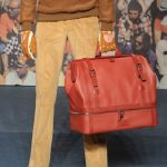 TRUSSARDI mens fall 2012 sel 6 red bag FashionDailyMag