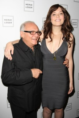 DESIGNER MAX AZRIA and Mandy Moore backstage at the Herve Leger By Max Azria Fall 2008 fdmloves