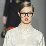 LINDSEY WIXSON RED LIPS at MARC by MARC JACOBS fall 2012 FashionDailyMag beauty goes red