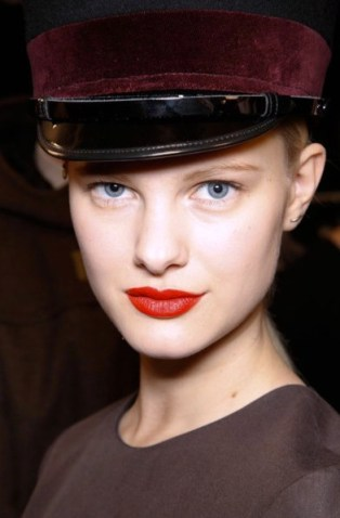 MARC BY MARC BEAUTY FALL 2012 fashiondailymag trend on red lips copy