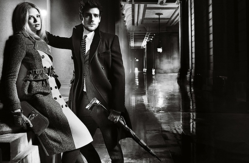 burberry autumn winter 2012 ad campaign featuring gabriella wilde and roo panes