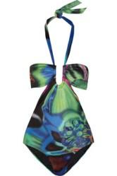 LA PERLA Warhol's Flower printed swimsuit green