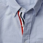 THOM BROWNE button front oxford shirt at MrPorter on FashionDailyMag