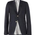 THOM BROWNE slim fit wool blend blazer
