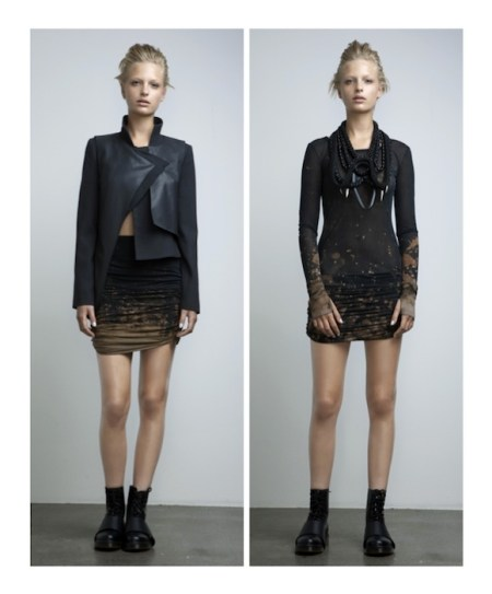 GenArt Fresh Faces in Fashion A_W 2012_13 Anne Sofie Madsen Horror Jacket+Frozen Sky Skirt and Frozen Sky Dress fashiondailymag selects