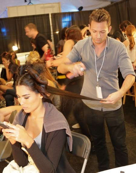 backstage miami swim 2013 cutler | redken fashiondailymag
