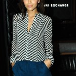Revenge's Ashley Madekwe in Armani Exchange in LA for madonna concert october 10