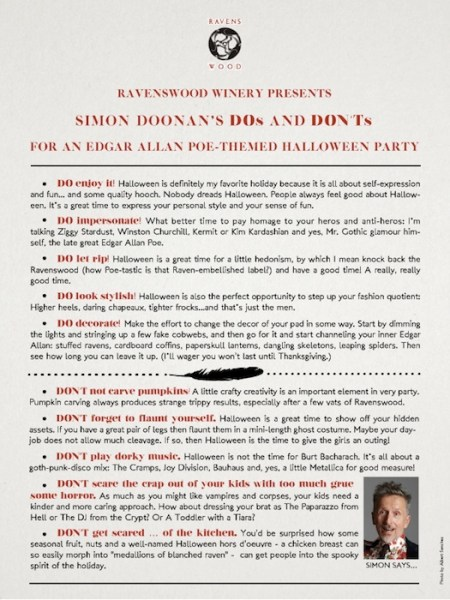 Simon Doonan's Tips for Poe-Themed Halloween