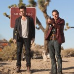 colin farrel and Sam Rockwell in seven pshychopaths on FashionDailyMag