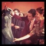 BRIGITTE SEGURA and ZAC POSEN backstage Fashion Houston
