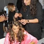 Alessandra Ambrosio and Orlando Pita AT Victoria's Secret Fashion Show-Backstage Hair and Makeup