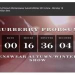 BURBERRY PRORSUM AW 13 LIVESTREAM FASHIONDAILYMAG