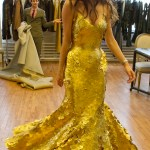 the 24K gold dress at Tribeca Film Festival