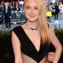 DAKOTA FANNING shows off PUNK nails at MET GALA