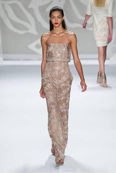 Monique Lhuillier Spring 2014 FashionDailyMag