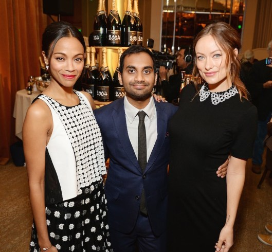 Zoe Saldana, Aziz Ansari and Olivia Wilde  71st Annual Golden Globe Nominations with Moet & Chandon