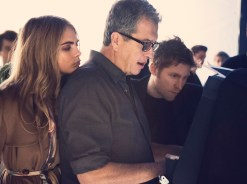 Cara Delevingne, Mario Testino and Christopher Bailey behind the scenes on the Burberry Autumn_Winter 2014 campaign
