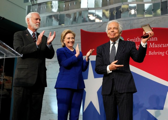Wayne Clough, Ralph Lauren, Hillary Rodham Clinton