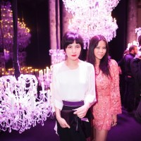 CATCHING up: Josie Ho and Yvette Yung at Paris Couture week