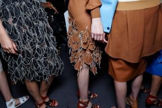 Jonathan Saunders SS15, backstage (Sam Wilson, British Fashion Council) 16 fashiondailymag