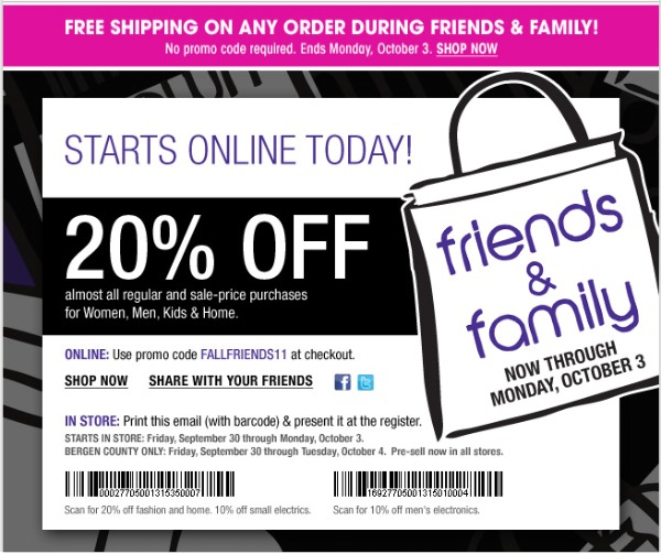 Bloomingdale's Friends and Family Sale