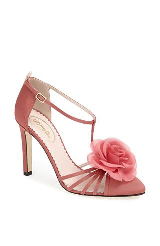 "The ""Etta"" sandal in mauve ($425)"