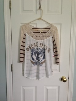 May Find #4: Free People Three-Quarter Scoop-Neck Lace Printed Tee